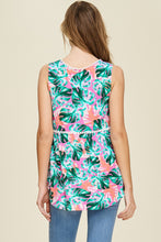 Spring Floral Sleeveless Top