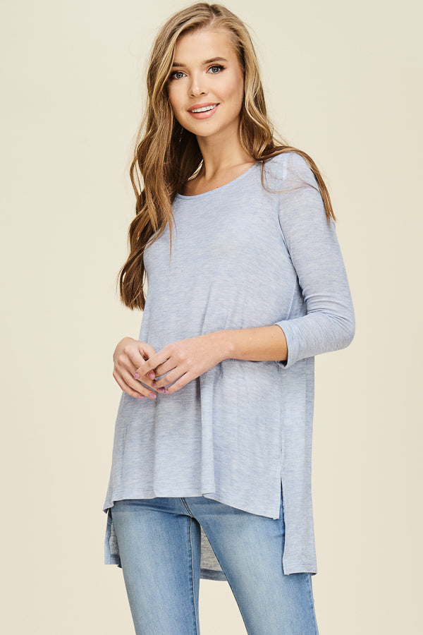 Roll Sleeve Top