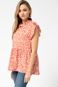 Coral Sleeveless Smock Top