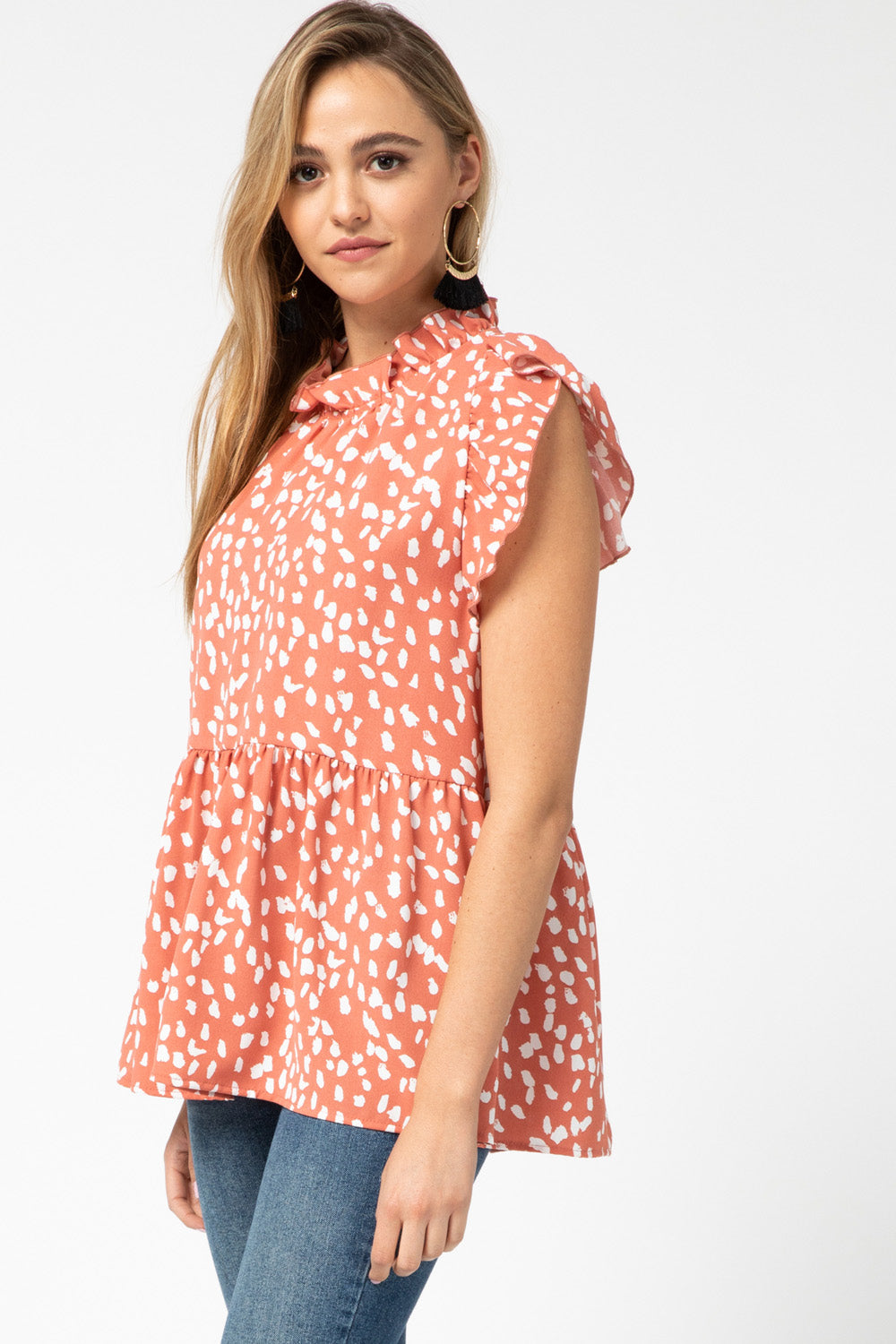Sleeveless Smock Top