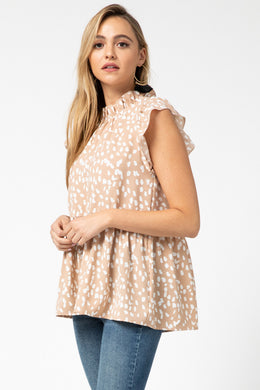 Latte Sleeveless Smock Top