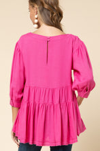 Fuchsia Tiered Top