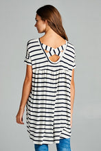 Black and White Striped Tunic (Available 4/28)