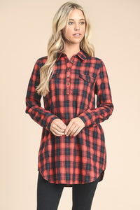 Plaid Tunic Top