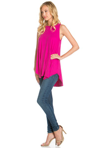 Sleeveless Top - Magenta
