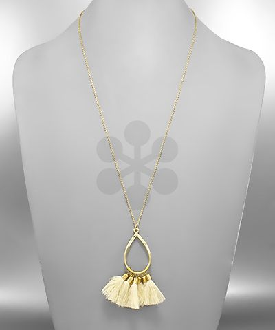 T-Drop and Tassel Necklace