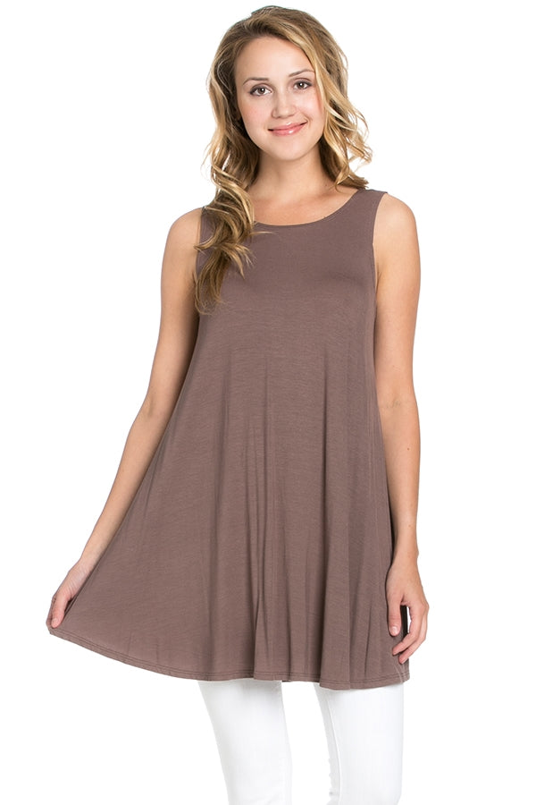 Sleeveless Top - Coffee