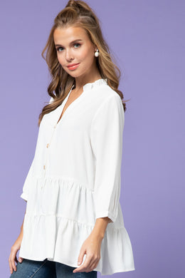 White Tiered Top
