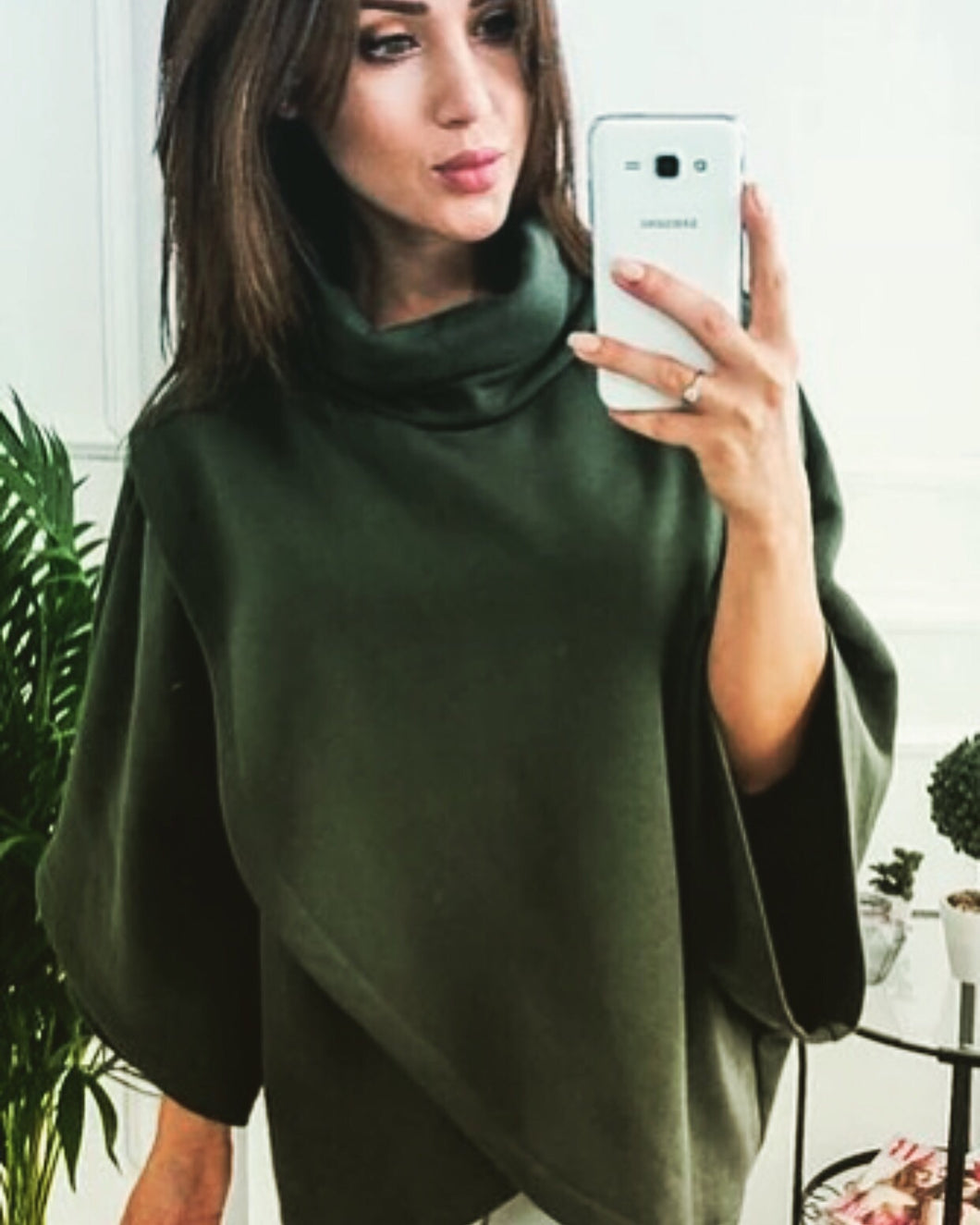 Green Sweatshirt Turtleneck