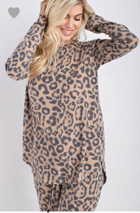 Brushed Animal Print Top (Available 12/10)