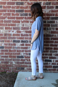 Mud-Pie JERSEY TUNIC IN Stonewash Blue