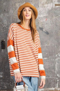 Rust Striped Top (more of a rust color in person)