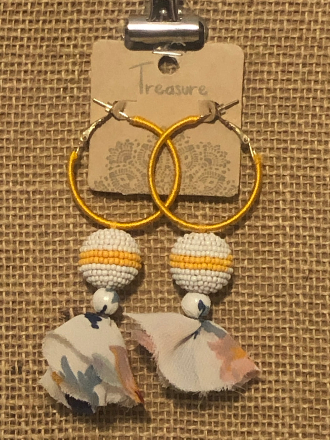 Floral Earrings (Yellow and Black)