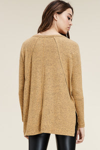 Mustard Hi/ Lo Sweater