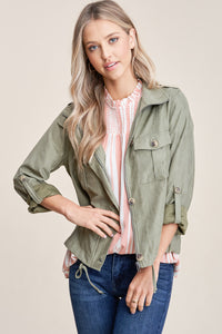 Sage Button Down Jacket