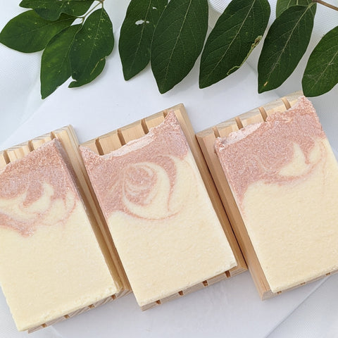 Citrus salt soap trio natural soap