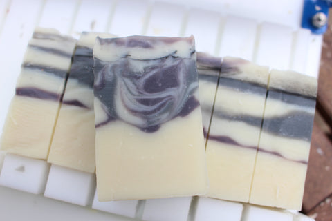 Charcoal Mint Swirl | Natural Soap