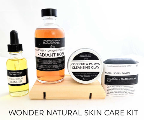 Natural skin care kit for teens