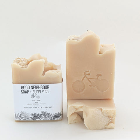 Aloe Is Calm, All Is Bright Holiday Soap | Natural Soap