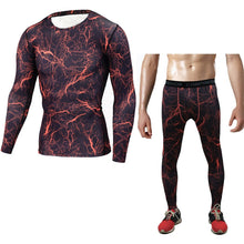 Orange Lightning Rash Guard & Spats Set
