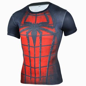 Red Spider Man Short Sleeve Rash Guard
