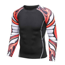 Flame Sleeved Rash Guard