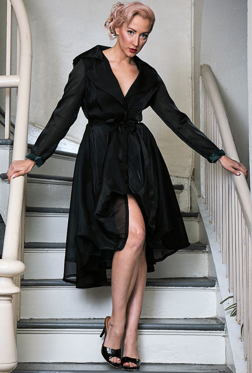 COAT DRESS | BLACK VOILE