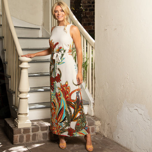 ELEGANT MAXI DRESS | AUTUMN GARDEN