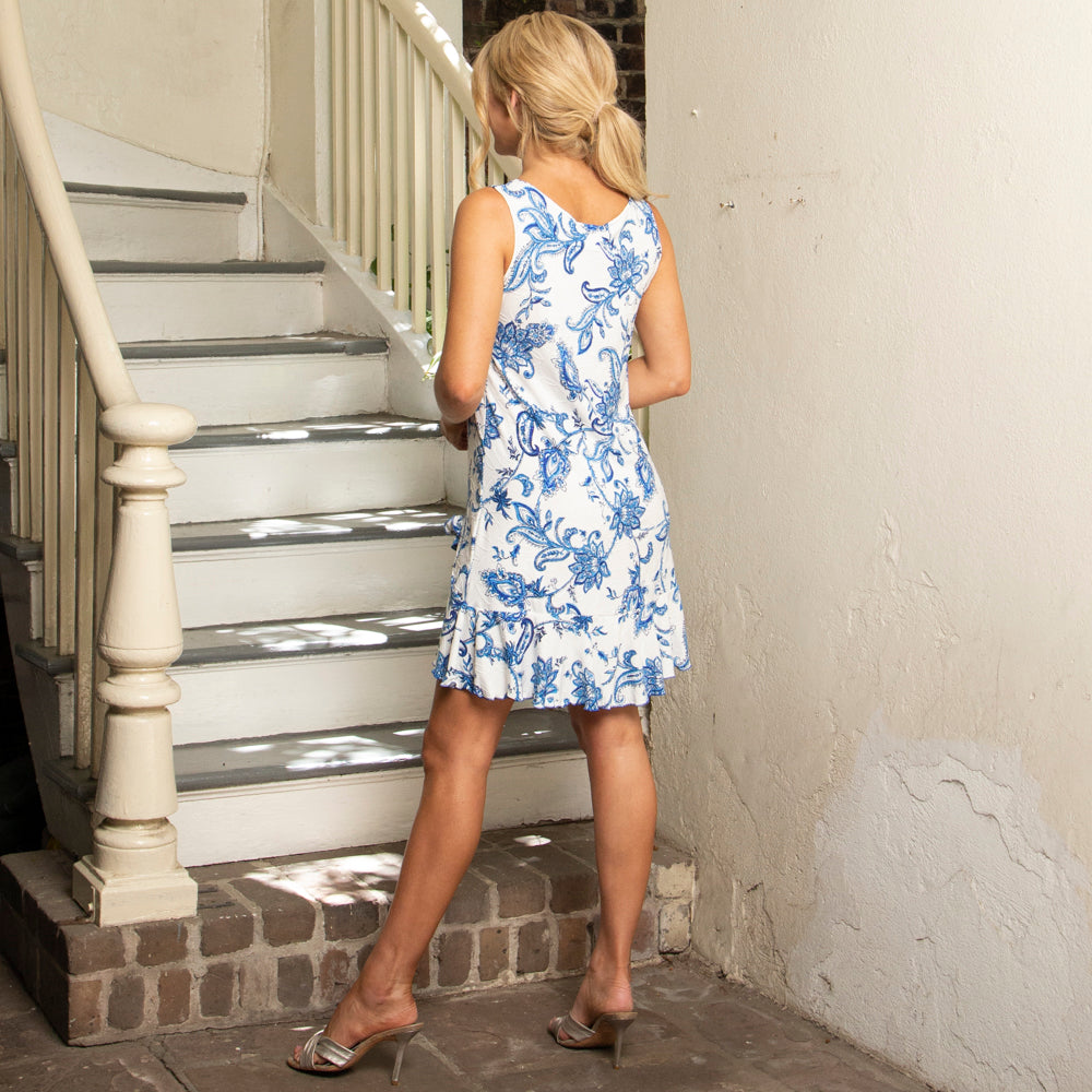 TANK DRESS | BLUE PAISLEY  | LATIN FLIP