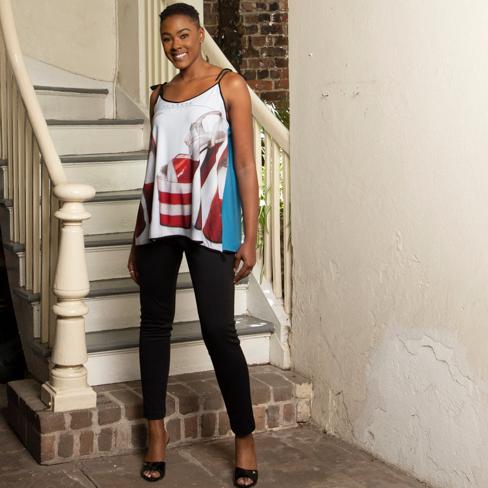 GRAPHIC TOPS | RED SHOE TANK
