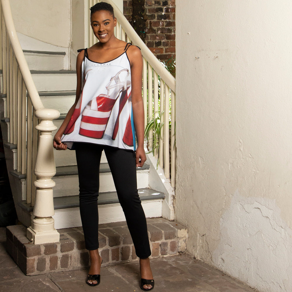 ART PRINT TOP | RED SHOE