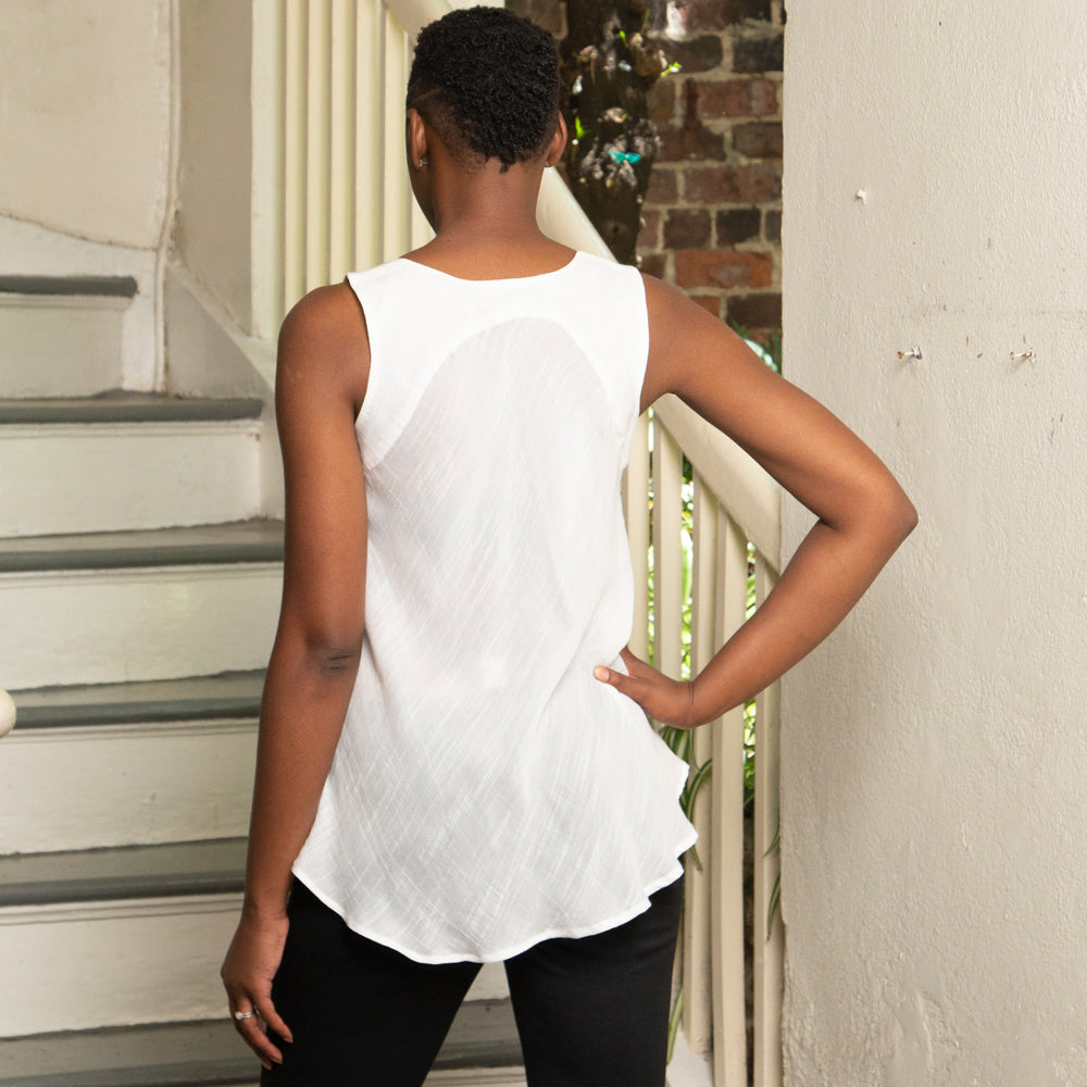 TIERED TOP | SILK & COTTON