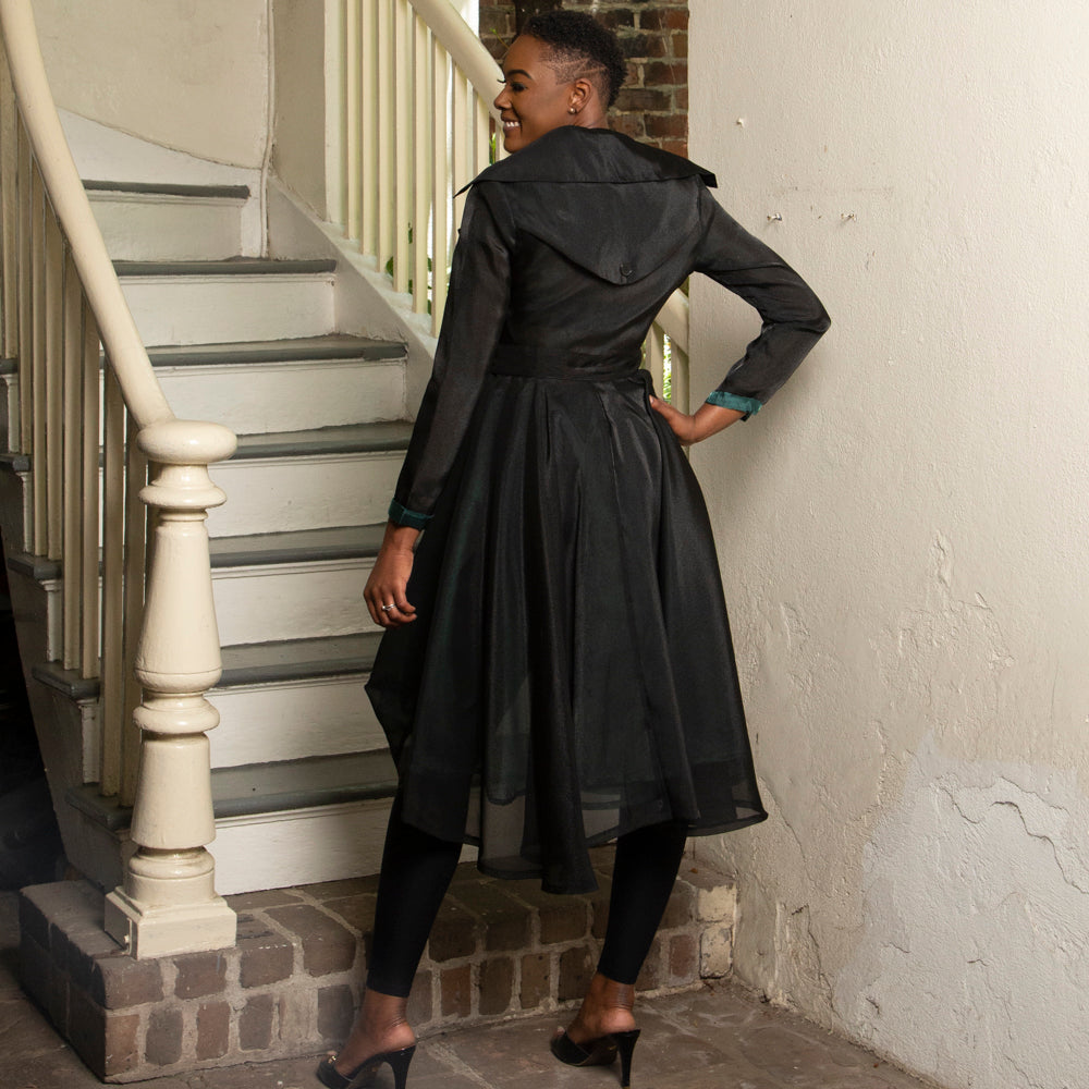 FUNKY BLACK TRENCH COAT