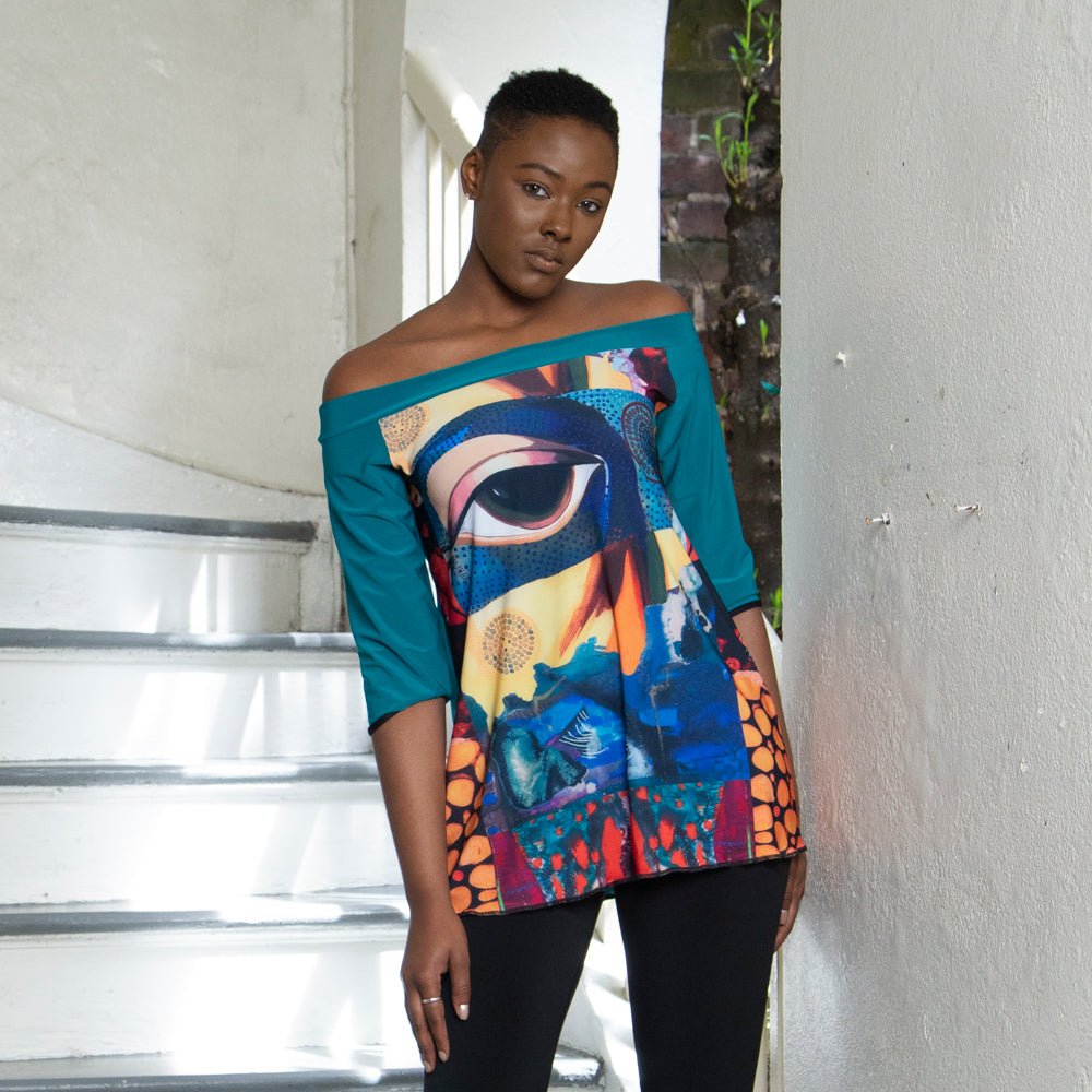 ART PRINT TOP | COUTURE | VANY EYE IN FOREST