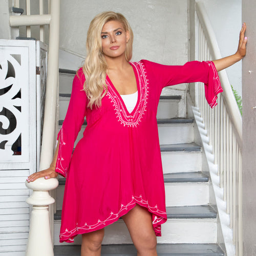 INDIAN COTTON SILK TUNIC TOP