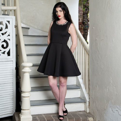 CRYSTAL COLLAR DRESS