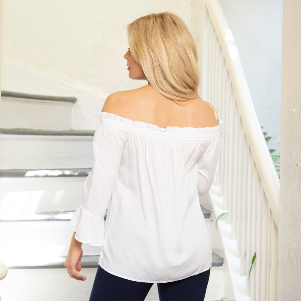 DRAWSTRING TOP | BELL SLEEVES