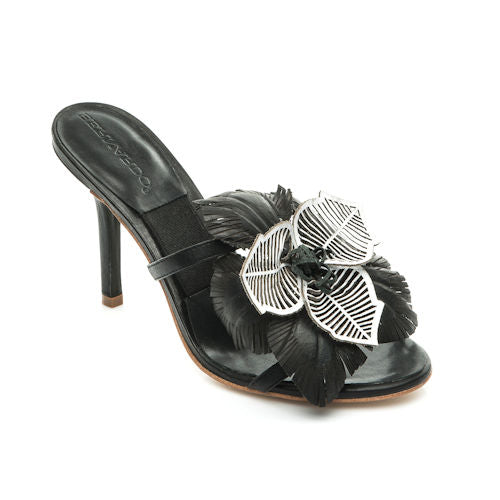 SUNFLOWER BLACK SLIDE