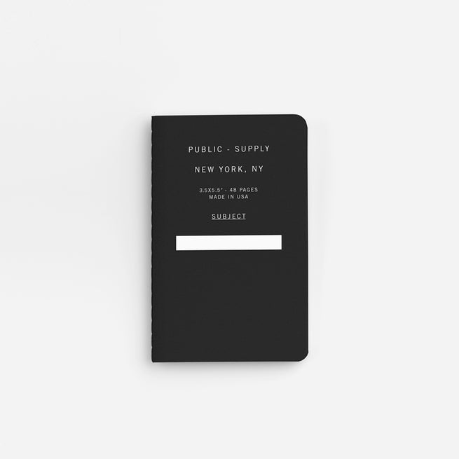 Black Pocket Notebook For Travel Public- Supply New York