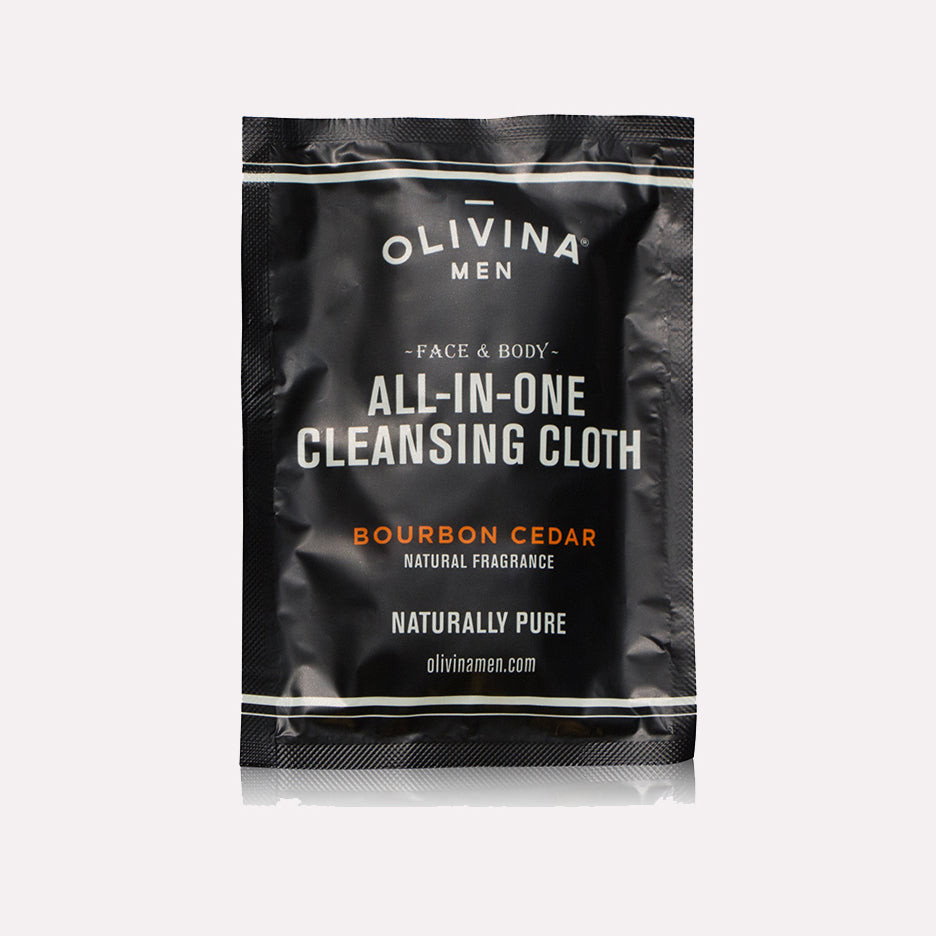 Olivina Men Bourbon Cedar Scented Cleansing Cloth