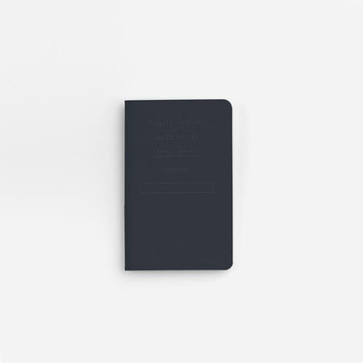 Navy Embossed Pocket Notebook
