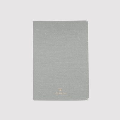 Grey Linen Jotter Notebook