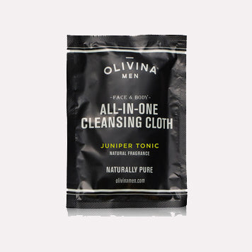 Olivina Men Juniper Tonic Cleansing Cloth