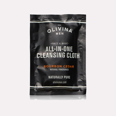 Olivina Men Bourbon Cedar Cleansing Cloth
