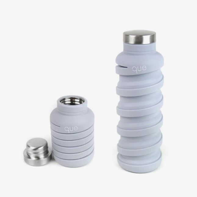 que Bottle Grey Collapsible Water Bottle