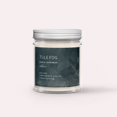 Sea and Lavender Tule Fog Candle