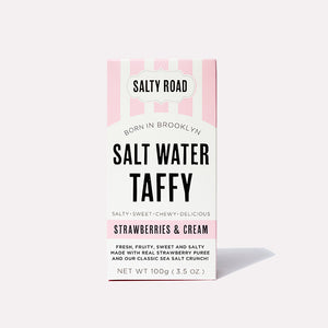 Salty Road Strawberries & Cream Salt Water Taffy