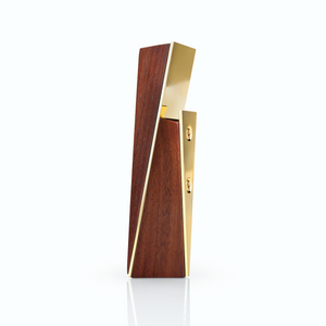 Viski Belmont Gold and Acacia Wood Bottle Opener