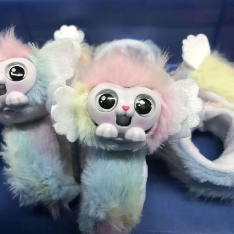 Little live pets Wrist Monkey Wrapples SHORA Interactive Plush Toys with Eyes Changing Color Furry Friends talking pink Doll cute Toy Wrist Slap Band tail Xmas Gift PRINCEZA