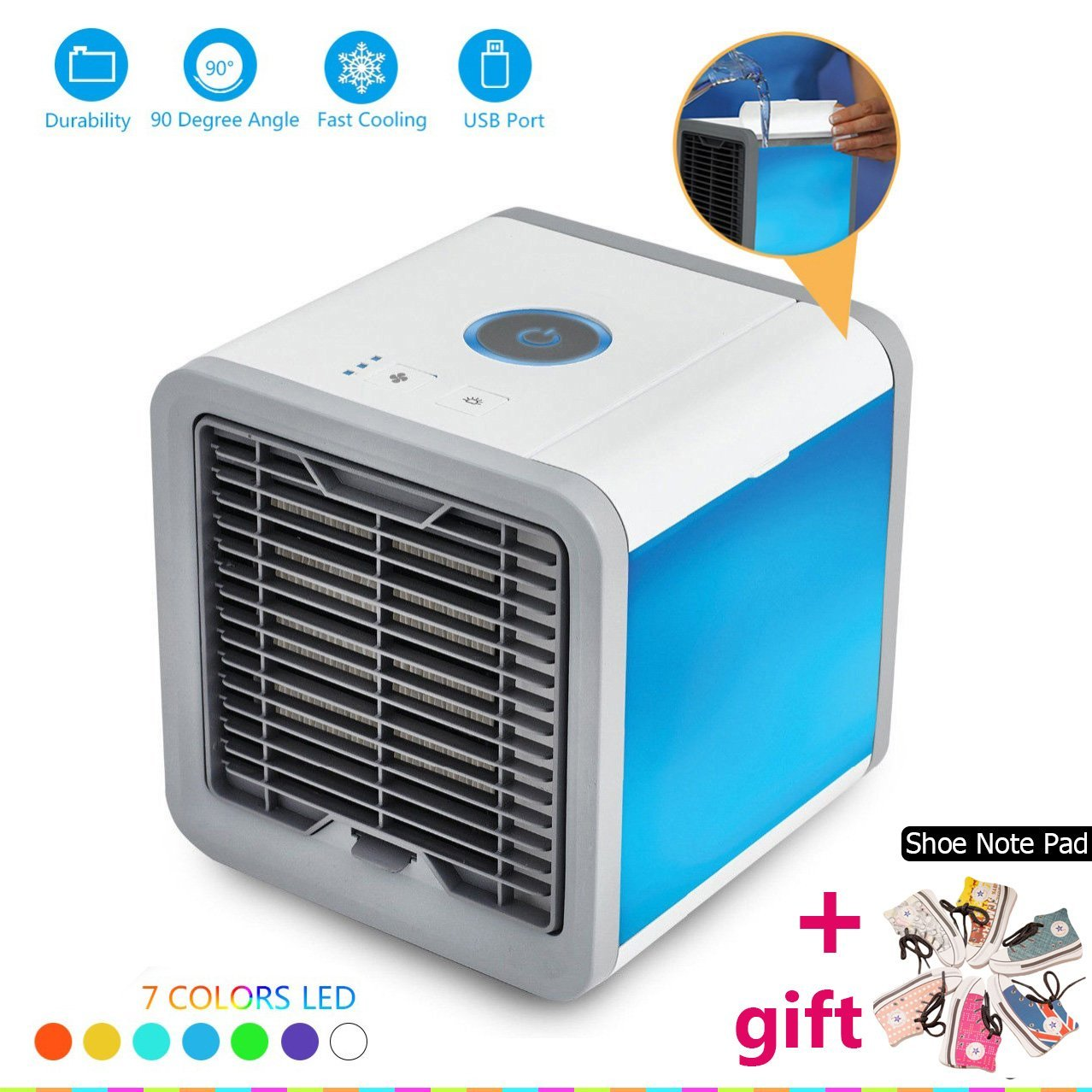 2019 New Air Cooler Arctic Air Personal Space Cooler Quick&Easy Way to Cool Outdoor Desktop Air Conditioner Home Portable Cooler